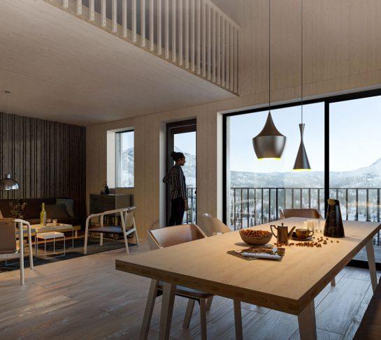 Bo i miljøvennlig massivtre-leilighet på Høgevarde