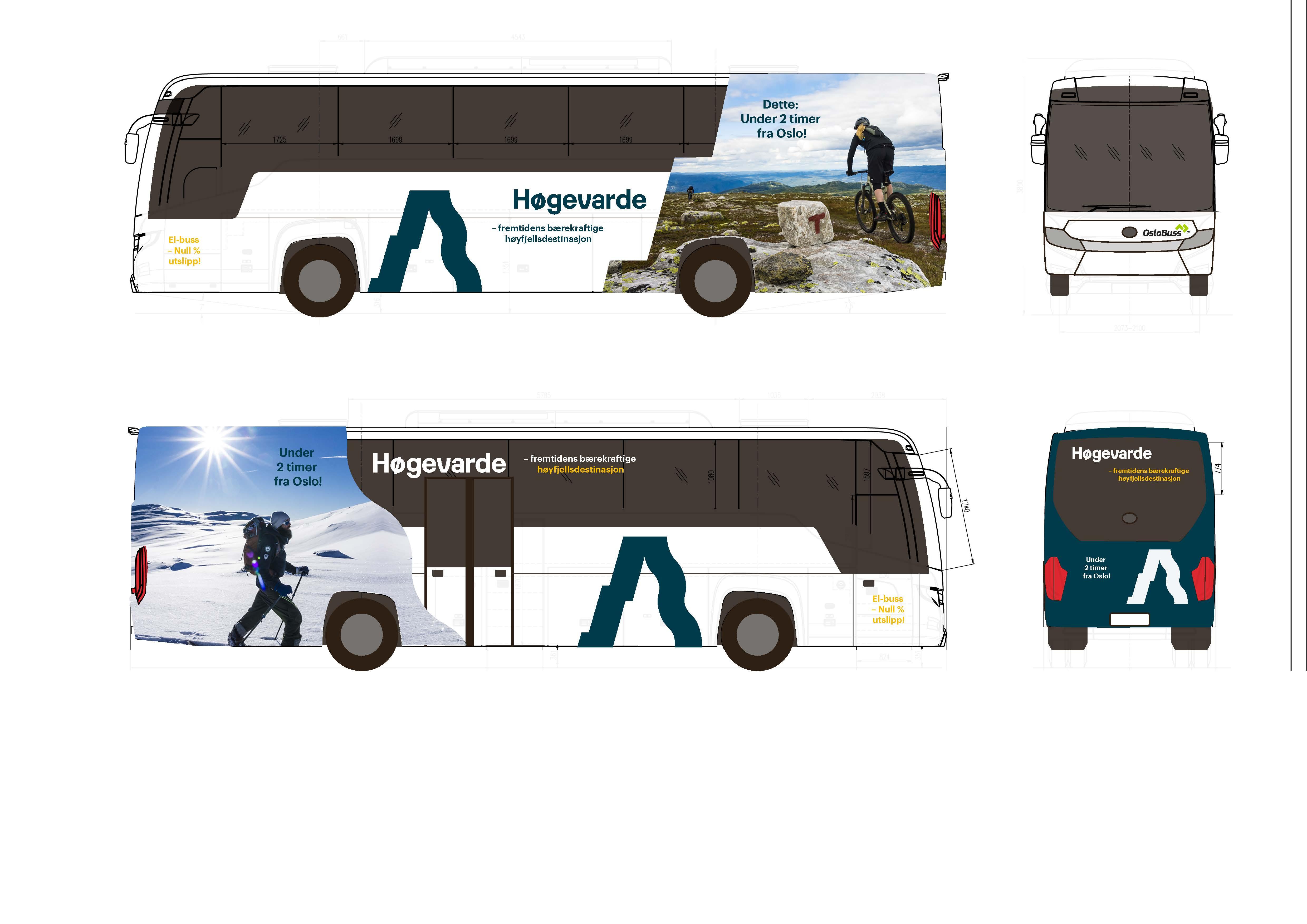 Elbuss- shuttle mellom Oslo og Høgevarde